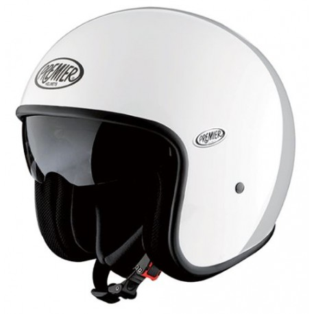 Casco casque jet Premier Vintage helmet U8 bianco lucido