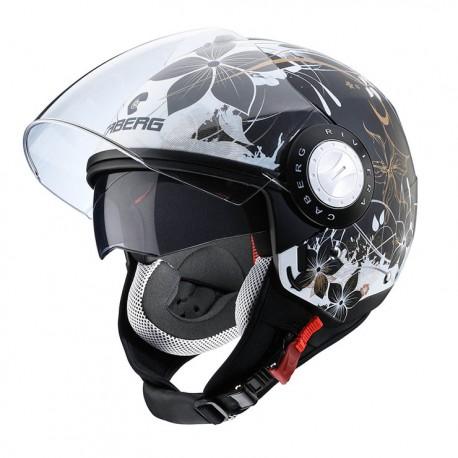 Caberg casco jet Riviera V3 Floral opaco helmet casque