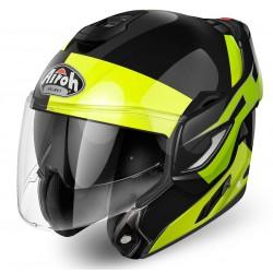 Casco Airoh Rev Fusion jet modulare nero giallo integrale helmet