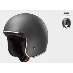 LS2 casco jet Bobber titanio opaco helmet casque