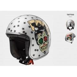 LS2 casco jet Tattoo silver Bobber helmet casque