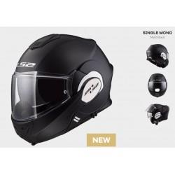 LS2 casco modulare jet Valliant nero black opco helmet casque