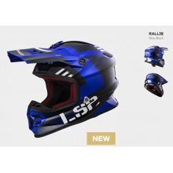 LS2 casco cross MX456 Light EVO Rallie blu helmet casque