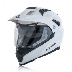 Acerbis casco Flip FS 606 cross enduro bianco lucido modulare