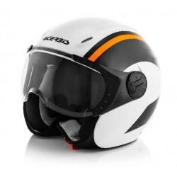 Acerbis casco K-jet bianco arancio KTM helmet casque