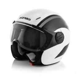 Acerbis casco K-jet bianco grigio helmet casque