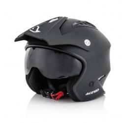 Acerbis casco Aria jet nero opaco trial helmet casque