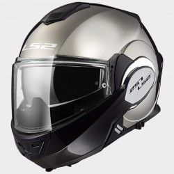 LS2 casco modulare jet Valiant chrome gloss helmet casque