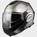 LS2 casco modulare jet Valiant chrome gloss helmet casque