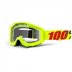 100% occhiale moto maschera Strata Mercury lente trasparente
