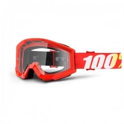100% occhiale moto maschera Strata Furnace lente trasparente