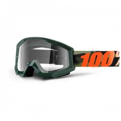 100% occhiale moto maschera Strata Huntsitan lente trasparente