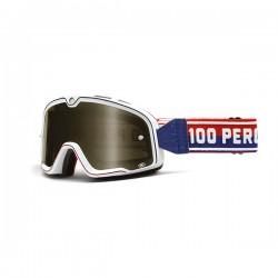 100% occhiale moto maschera Barstow white lente fumè