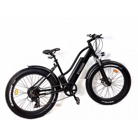 Gpbike Strada Bici Elettrica Fat Bike 26x40 Nera Opaca 48v 250w