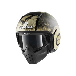 Shark Drak Raw casco jet Evok matt helmet casque black green