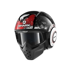 Shark Drak Raw casco jet Evok matt helmet casque black red antracite