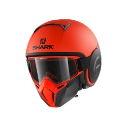 Shark Drak Raw casco jet Tribute helmet casque black green