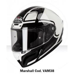 Casco Airoh Valor Marshall black white integrale helmet grafica 2019