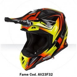 Casco Airoh Aviator 2.3 helmet Fame orange casque cross