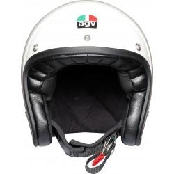 Agv casco X70 vintage helmet casque jet moto bianco lucido