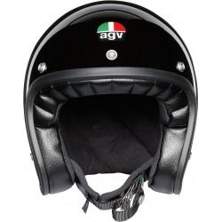 Agv casco X70 vintage helmet casque jet moto nero lucido