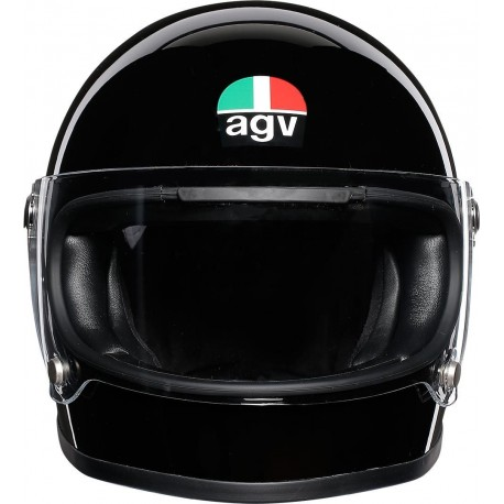 Agv helmet X3000 nero lucido black gloss integrale vintage