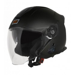 Origine casco jet Palio 2.0 con interfono bluetooth integrato nero opaco