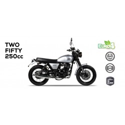 Mash moto Fifty Two 250 scramblersilver Euro 4