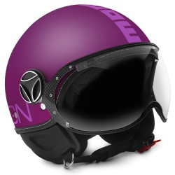 Momodesign casco jet Fgtr classic Viola opaco decal rosa