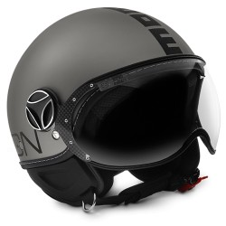 Momodesign casco jet Fgtr Evo titanio frost decal nera