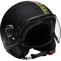 Momodesign casco jet Fgtr classic nero opaco decal pixel