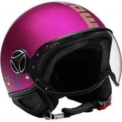 Momodesign casco jet Fgtr classic viola decal pixel