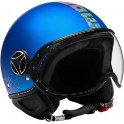 Momodesign momo casco jet Fgtr classic blu decal pixel