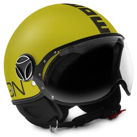 Momodesign momo casco jet Fgtr classic giallo oro decal antracite