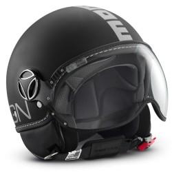 Momodesign momo casco jet Fgtr classic nero opaco decal silver