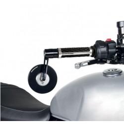 Barracuda coppia specchi Skin S-Bar End B-Lux neri omologati moto