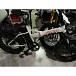 GPbike Cross-R 48v-750w bici elettrica Fat bike pieghevole bianca opaca