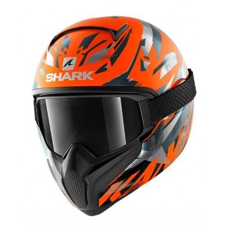 Shark Vancore 2 casco moto integrale KANHJI arancio opaco KTM con maschera