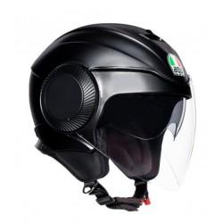 Agv casco Orbyt jet moto nero opaco con occhialino parasole interno