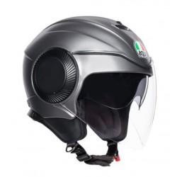 Agv casco Orbyt jet moto grigio opaco con occhialino parasole interno