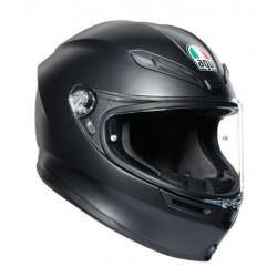Agv K6 in fibra Pinlock casco integrale moto nero opaco solid