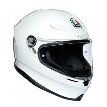 Agv K6 in fibra Pinlock casco integrale moto bianco lucido solid