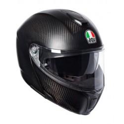 Agv sportmodular casco modulare moto carbonio opaco