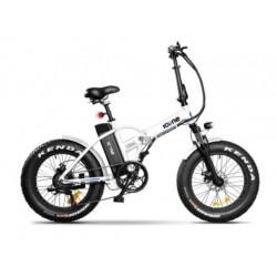 Bicicletta elettrica Icone 36v 250w fat bike 20 x 4.0 Navy bianca