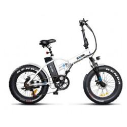Bicicletta elettrica Icone 48v 250w fat bike 20 x 4.0 Navy S bianca