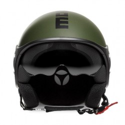 Momodesign Minimomo-S Casco casque jet verde militare decal nera