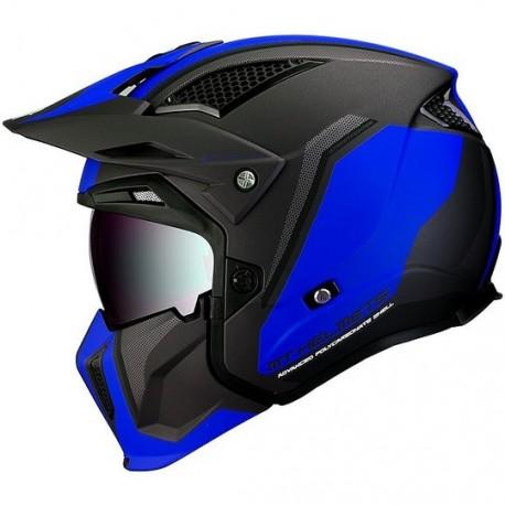 MT helmets Streetfighter casco moto Twin C7 nero opaco blu jet