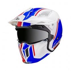 MT helmets Streetfighter casco moto Twin B7 bianco lucido blu rosso jet