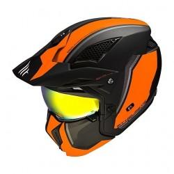MT helmets Streetfighter casco moto Twin C4 nero opaco arancio jet