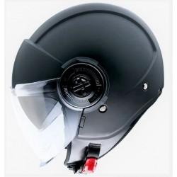 MT helmets Viale SV casco moto nero opaco jet con occhialino solare
